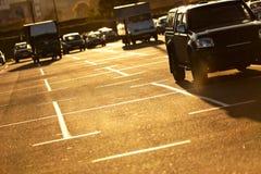 χώρος στάθμευσης αυτοκ& Στοκ Εικόνα