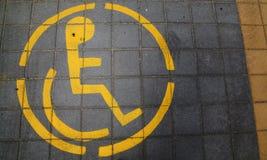 Χώρος στάθμευσης για τα άτομα με ειδικές ανάγκες Στοκ φωτογραφία με δικαίωμα ελεύθερης χρήσης