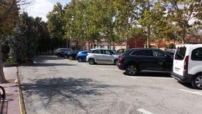 Χώρος στάθμευσης ενός πάρκου στην Ισπανία στοκ εικόνες με δικαίωμα ελεύθερης χρήσης