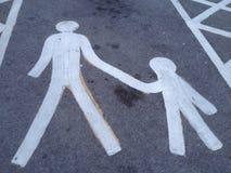 Χώρος στάθμευσης διπλωμάτων ευρεσιτεχνίας και παιδιών Στοκ εικόνες με δικαίωμα ελεύθερης χρήσης