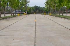 Χώρος στάθμευσης και δέντρα αυτοκινήτων Στοκ εικόνα με δικαίωμα ελεύθερης χρήσης