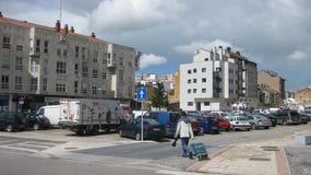 Χώρος στάθμευσης και κυκλοφορία Στοκ Φωτογραφία