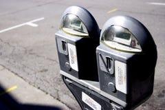 χώρος στάθμευσης μετρητών Στοκ εικόνα με δικαίωμα ελεύθερης χρήσης