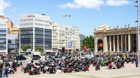Χώρος στάθμευσης μοτοσικλετών στο Plaza της Ισπανίας Στοκ εικόνες με δικαίωμα ελεύθερης χρήσης
