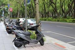 Χώρος στάθμευσης μοτοσικλετών Στοκ Εικόνες