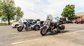 Χώρος στάθμευσης μοτοσικλετών στοκ φωτογραφία με δικαίωμα ελεύθερης χρήσης
