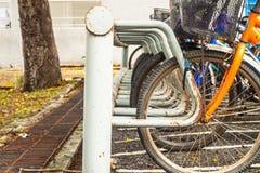Χώρος στάθμευσης ποδηλάτων Στοκ Φωτογραφία
