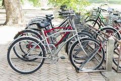 Χώρος στάθμευσης ποδηλάτων Στοκ Φωτογραφίες