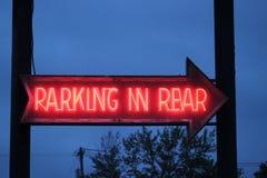 χώρος στάθμευσης στο οπίσθιο τμήμα Στοκ φωτογραφίες με δικαίωμα ελεύθερης χρήσης