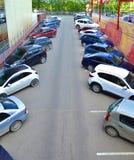 Χώρος στάθμευσης των αυτοκινήτων Στοκ Εικόνα