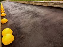 Χώρος στάθμευσης υπεραγορών μετά από τη βροχή στοκ φωτογραφίες με δικαίωμα ελεύθερης χρήσης