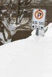 Χώρος στάθμευσης χιονιού Στοκ Εικόνα
