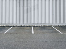 Χώρος στάθμευσης, χώρος στάθμευσης, κτήριο, βιομηχανικό Στοκ Εικόνα