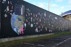 Χώρος στάθμευσης Grafffiti Στοκ Εικόνες