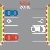Χώρος στάθμευσης Zone3 ελεύθερη απεικόνιση δικαιώματος
