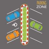Χώρος στάθμευσης Zone4 ελεύθερη απεικόνιση δικαιώματος