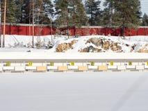 Χώρος Biathlon Στοκ Εικόνες