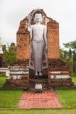 Χλεύη επάνω στο άγαλμα του Βούδα στην αρχαία πόλη, Ταϊλάνδη Στοκ εικόνα με δικαίωμα ελεύθερης χρήσης
