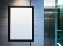 Χλεύη επάνω στο πλαίσιο αφισών με το ελαφρύ εσωτερικό υπόβαθρο σημείων Στοκ εικόνες με δικαίωμα ελεύθερης χρήσης