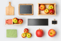 Χλεύη προϊόντων της Apple που μαρκάρει επάνω το πρότυπο επάνω από την όψη Στοκ φωτογραφία με δικαίωμα ελεύθερης χρήσης