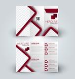 Χλεύη φυλλάδιων επάνω στο πρότυπο σχεδίου για την επιχείρηση, εκπαίδευση, διαφήμιση Στοκ Εικόνες