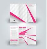 Χλεύη φυλλάδιων επάνω στο πρότυπο σχεδίου για την επιχείρηση, εκπαίδευση, διαφήμιση Στοκ φωτογραφίες με δικαίωμα ελεύθερης χρήσης