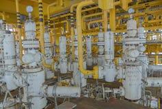 Χ-μαζικό δέντρο και γραμμή ροής για τη διαδικασία παραγωγής πετρελαίου και φυσικού αερίου Στοκ Εικόνες