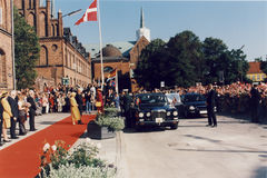 Χ Μ Η ΒΑΣΙΛΙΣΣΑ MARGRETHE ΚΑΙ ΠΡΙΓΚΗΠΑΣ HENRIK VISISTS Στοκ εικόνα με δικαίωμα ελεύθερης χρήσης
