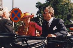 Χ Μ Η ΒΑΣΙΛΙΣΣΑ MARGRETHE ΚΑΙ ΠΡΙΓΚΗΠΑΣ HENRIK VISISTS Στοκ Φωτογραφία