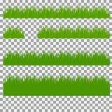 Χλόη, θάμνοι Ένα σύνολο διάφορων τύπων χλοών Σύνολο χλόης σε ένα διαφανές υπόβαθρο Στοκ Φωτογραφία