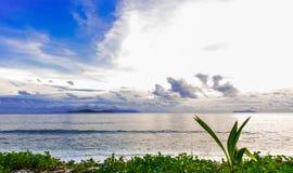 Χλόη και θάλασσα Στοκ φωτογραφίες με δικαίωμα ελεύθερης χρήσης