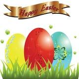 Ευτυχές Πάσχα, αυγά Πάσχας. Στοκ εικόνες με δικαίωμα ελεύθερης χρήσης