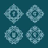 Ψάθινα μονογράμματα Στοκ φωτογραφία με δικαίωμα ελεύθερης χρήσης