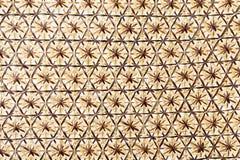 Ψάθινη επιφάνεια ύφανσης καλαθιών για το υπόβαθρο Στοκ Φωτογραφίες