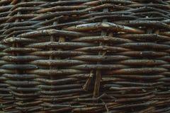Ψάθινη ξύλινη σύσταση Στοκ Εικόνες