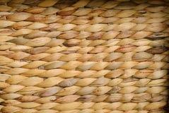 Ψάθινη σύσταση καλαθιών, χειροποίητη ψάθινη εργασία Backround Στοκ Φωτογραφίες