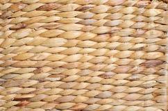 Ψάθινη σύσταση καλαθιών, χειροποίητη ψάθινη εργασία Backround Στοκ Εικόνες