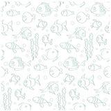 ψάρια άνευ ραφής απεικόνιση αποθεμάτων
