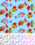 ψάρια άνευ ραφής ελεύθερη απεικόνιση δικαιώματος