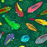 Ψάρια άνευ ραφής Στοκ Εικόνες
