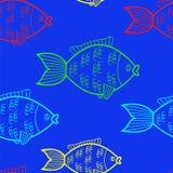 ψάρια άνευ ραφής Στοκ Εικόνα