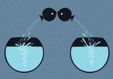 Ψάρια αγάπης Στοκ Εικόνες