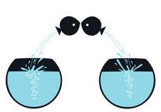 Ψάρια αγάπης Απεικόνιση αποθεμάτων