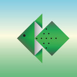 Ψάρια από το έγγραφο του origami Στοκ Φωτογραφία