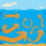 Ψάρια βελών Στοκ εικόνα με δικαίωμα ελεύθερης χρήσης
