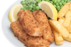 ψάρια δάχτυλων τσιπ στοκ εικόνα