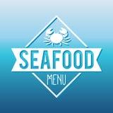 Ψάρια επιλογών θαλασσινών και ετικέτα σχαρών/διακριτικό απεικόνιση αποθεμάτων