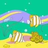 Ψάρια θάλασσας που επαναλαμβάνουν το σχέδιο ελεύθερη απεικόνιση δικαιώματος