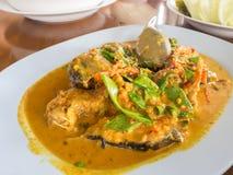 Ψάρια κάρρυ που τηγανίζονται Στοκ φωτογραφία με δικαίωμα ελεύθερης χρήσης