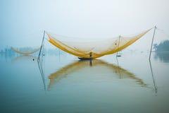 Ψάρια καθαρά στον ποταμό Hoai στην αρχαία πόλη Hoian στο Βιετνάμ Στοκ φωτογραφία με δικαίωμα ελεύθερης χρήσης
